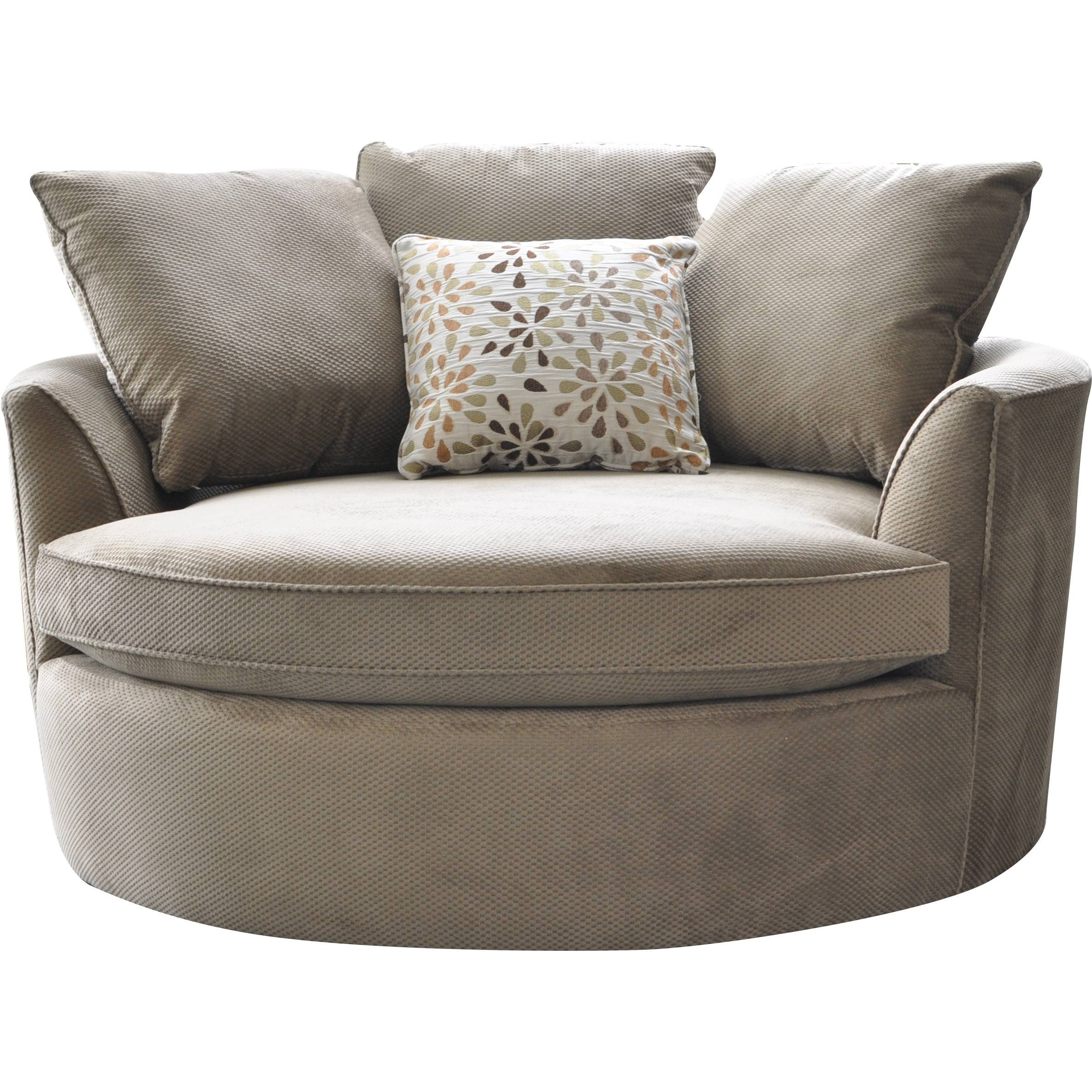 Cuddler Swivel Sofa Chair | Roselawnlutheran Within Swivel Sofa Chairs (View 14 of 30)