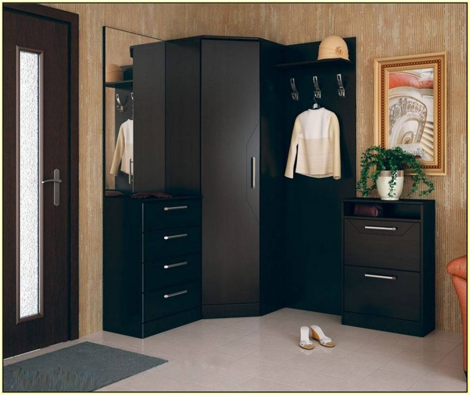 Curved Corner Closet Rod | Home Design Ideas regarding Curved Corner Wardrobe Doors (Image 19 of 30)