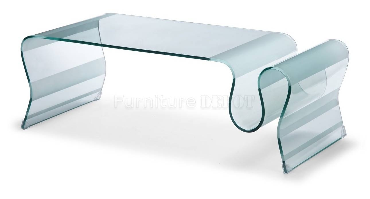 Curved Glass Coffee Table Superb Modern Coffee Table On in Curved Glass Coffee Tables (Image 17 of 30)