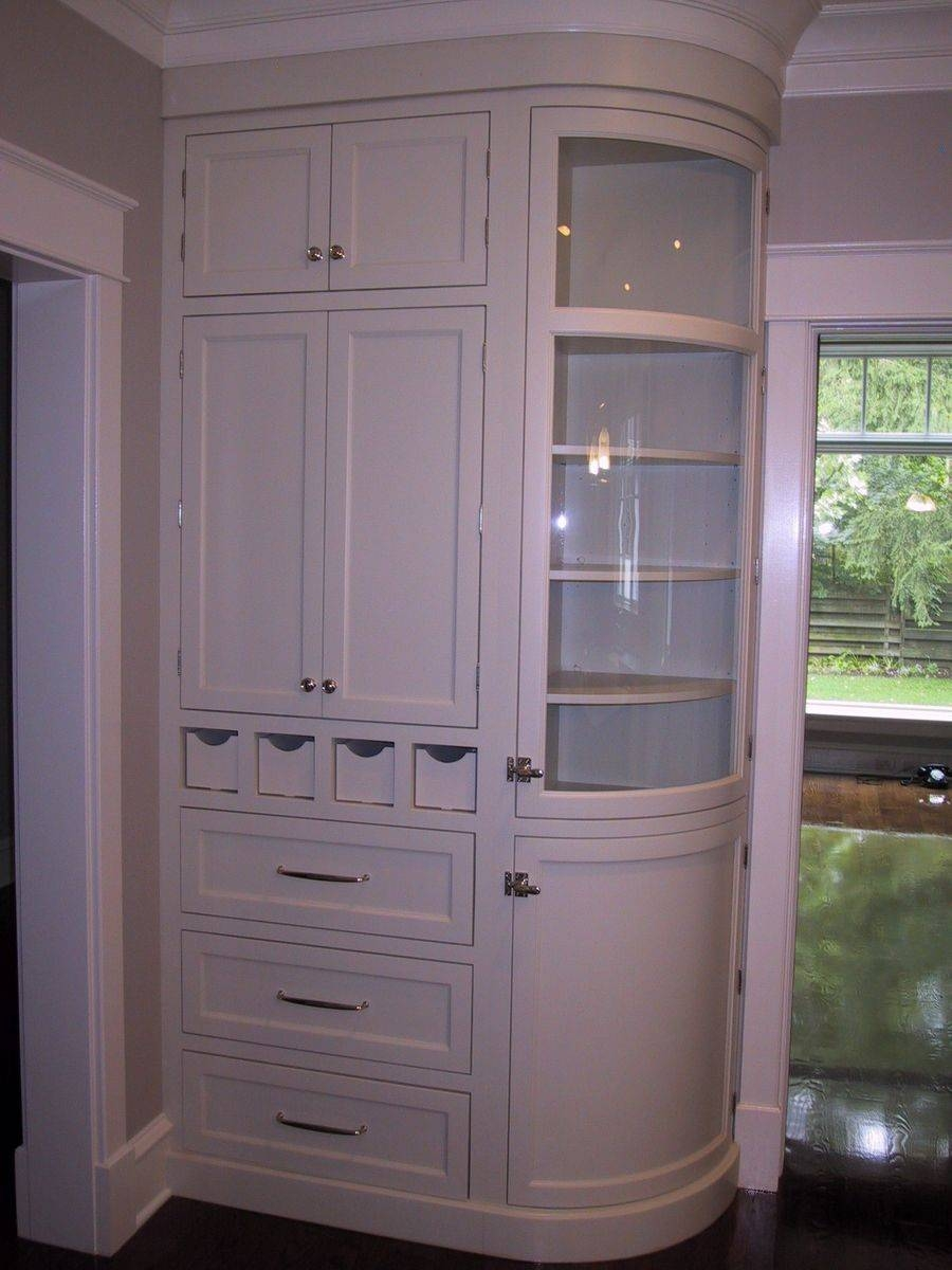 Curved Kitchen Cabinets Intended For Curved Corner Wardrobe Doors (View 21 of 30)