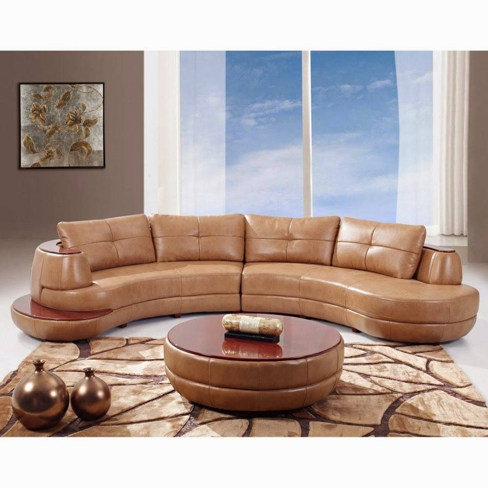 Curved Loveseat: Contemporary Curved Leather Sectional Sofa with regard to Contemporary Curved Sofas (Image 7 of 30)