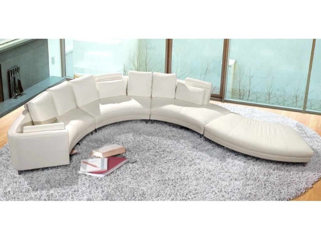 Curved Sectional Sofa: Glamour For Interior — Home Design pertaining to Round Sectional Sofa Bed (Image 9 of 25)