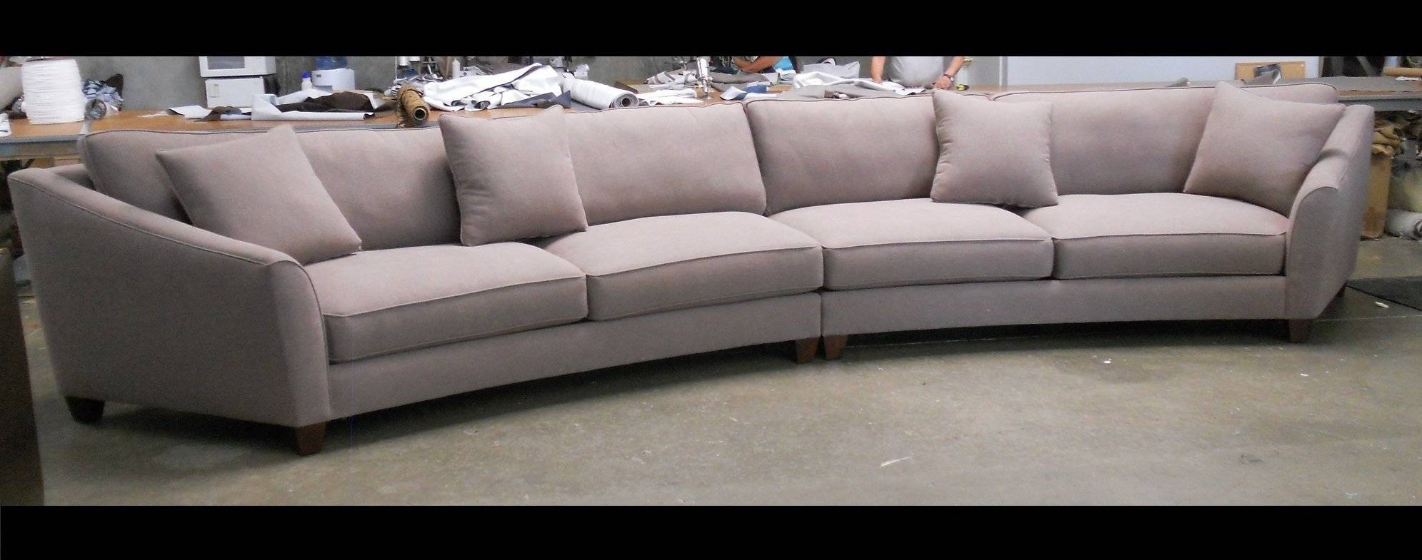 Curved Sectional Sofa Set - Rich Comfortable Upholstered Fabric for Round Sectional Sofa (Image 3 of 30)