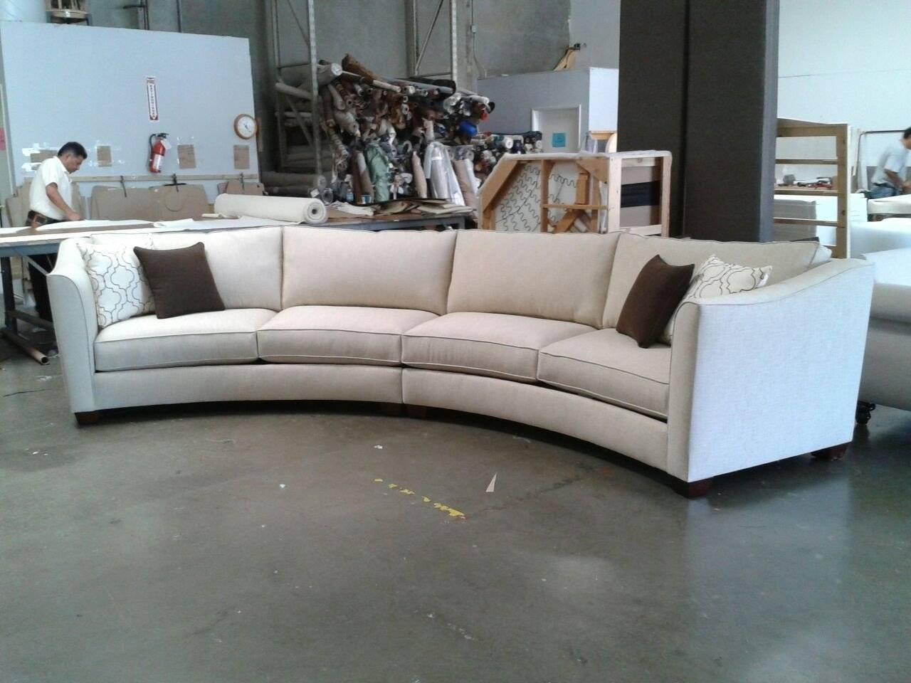 Curved Sectional Sofa Set - Rich Comfortable Upholstered Fabric regarding Contemporary Curved Sofas (Image 10 of 30)