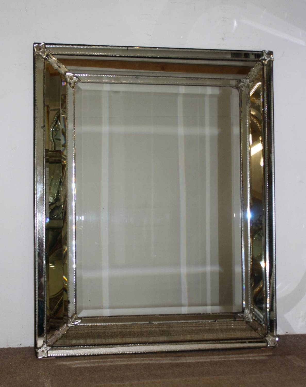 Cushioned Venetian Mirror within Venetian Antique Mirrors (Image 12 of 25)
