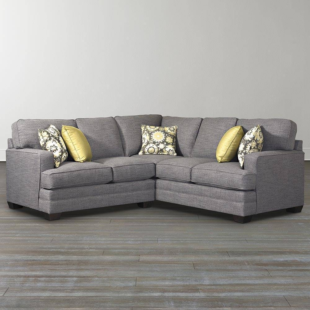 Custom Designed L-Shaped Upholstered Sectional within Leather L Shaped Sectional Sofas (Image 6 of 30)