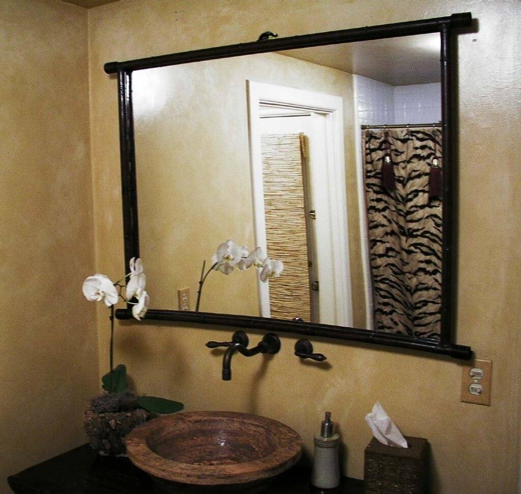 Custom Framed Bathroom Mirrors 63 Trendy Interior Or Metal Framed throughout Iron Framed Mirrors (Image 6 of 25)
