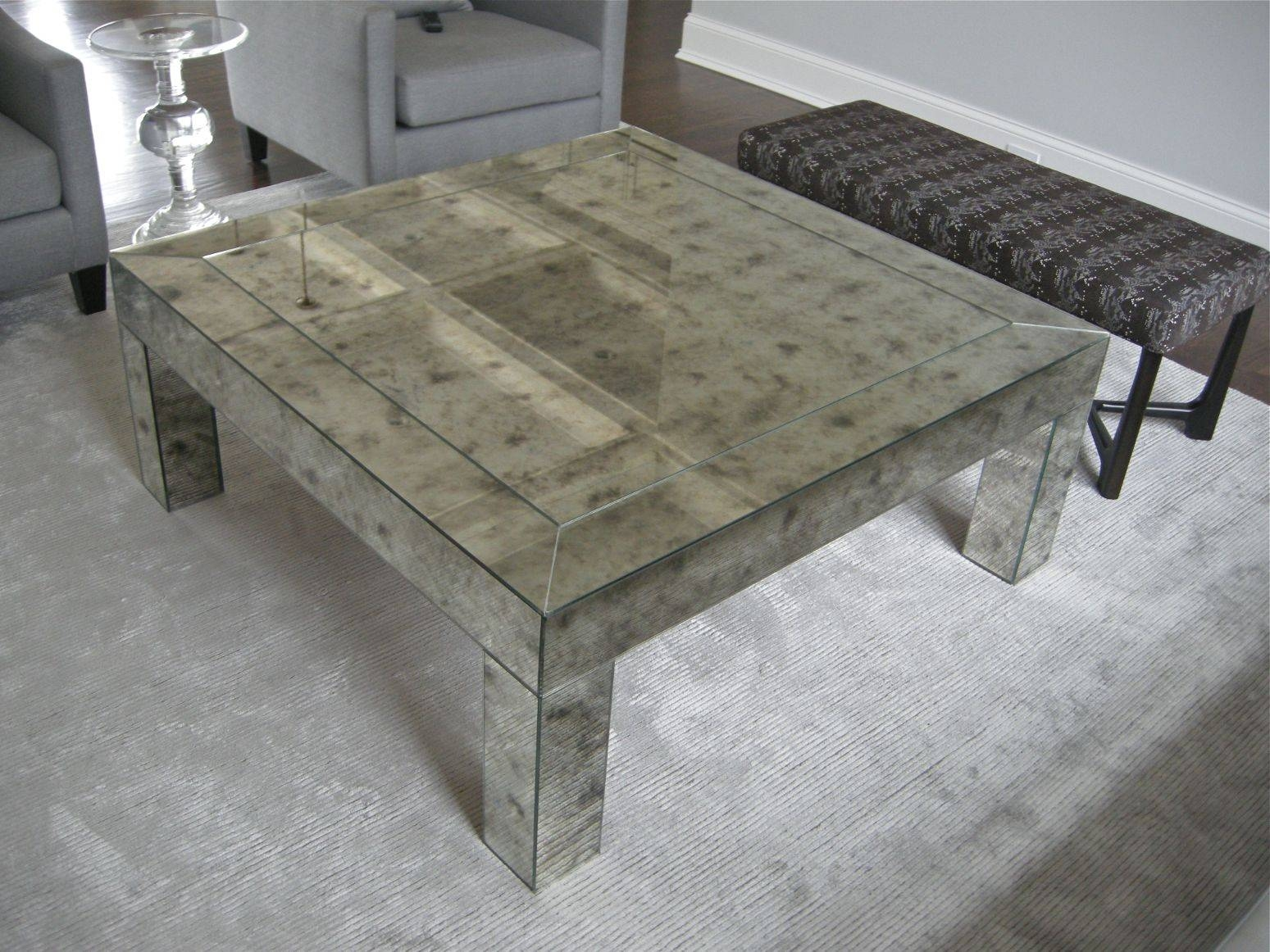 Custom Framed Mirrors inside Vintage Mirror Coffee Tables (Image 7 of 30)