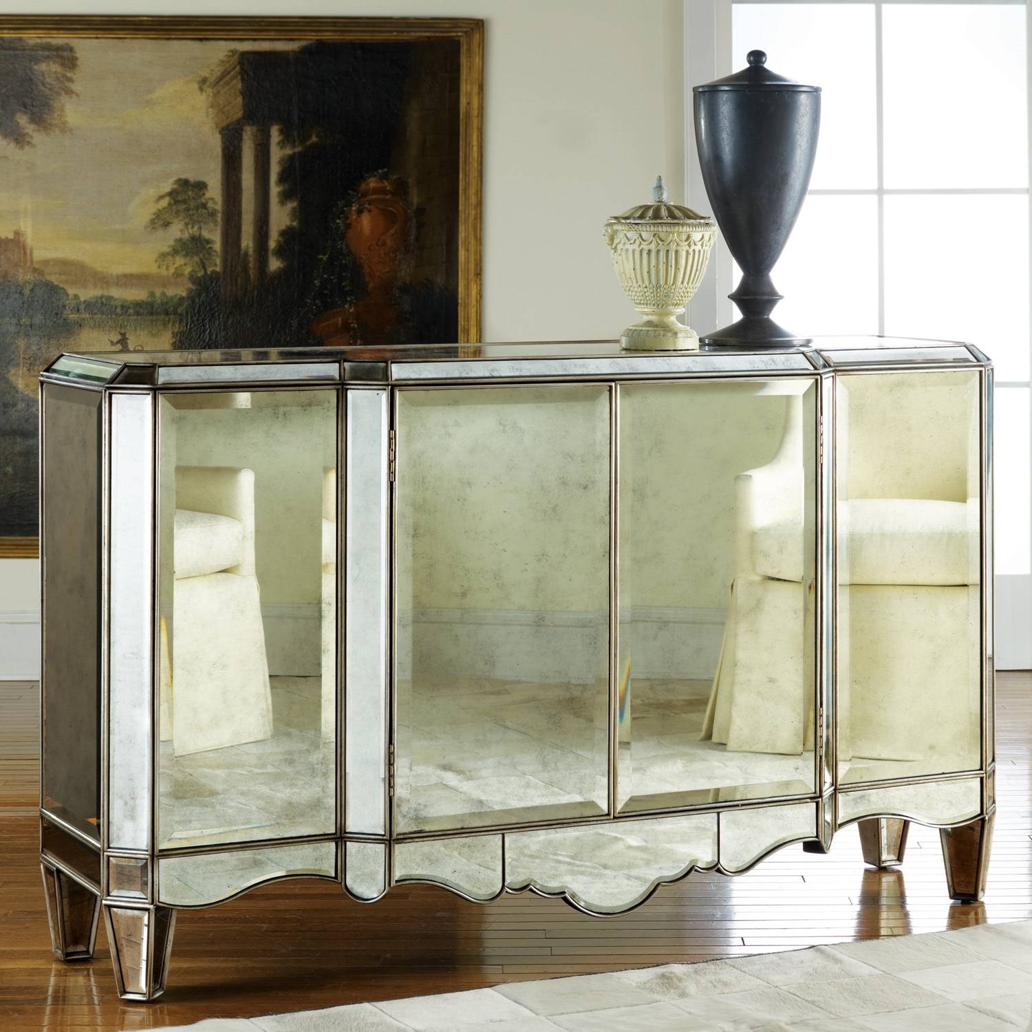 Custom Handcrafted & Mirrored Buffets, Sideboards & Cabinets For with regard to Mirrored Sideboards (Image 8 of 30)