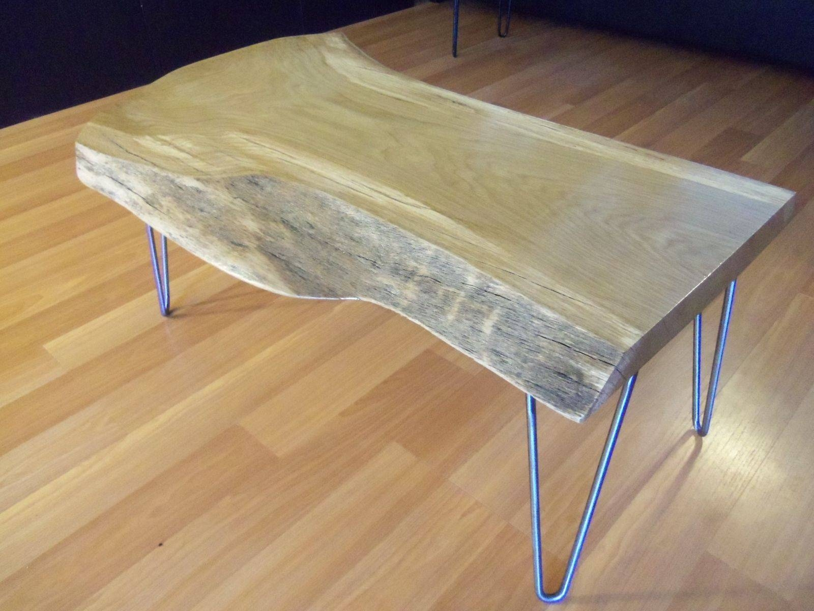 Custom Live Edge White Oak Coffee Tableozma Design Throughout White And Oak Coffee Tables (View 13 of 30)