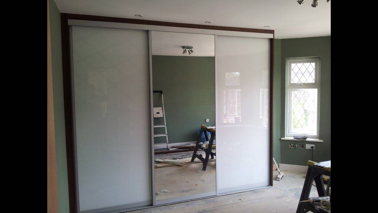 Custom Made Sliding Door Wardrobe | White Glass | Mirror - Youtube pertaining to One Door Mirrored Wardrobes (Image 5 of 15)