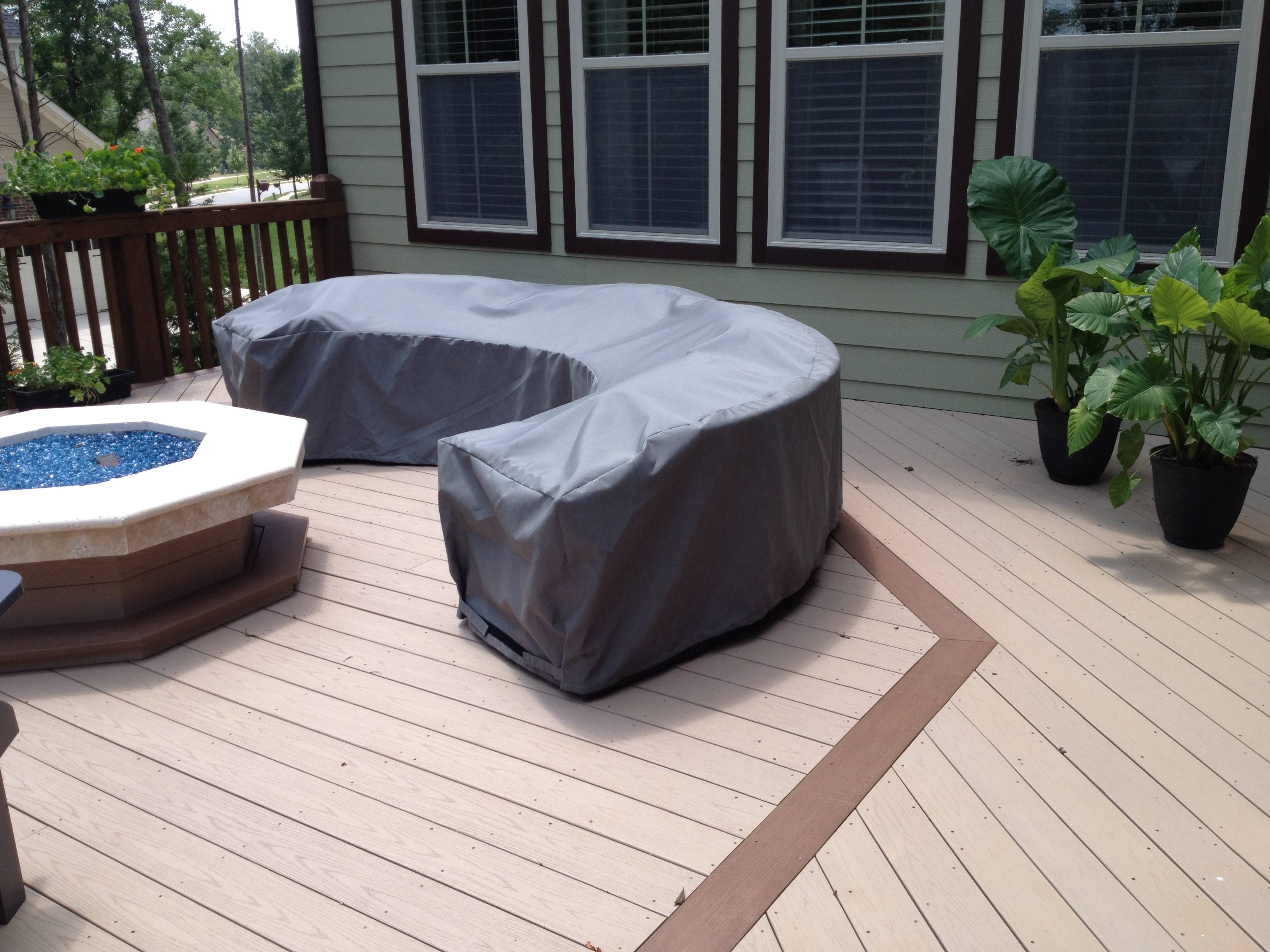 Custom Patio Furniture Covers | Outdoor Sectional Covers with Outdoor Sofa Chairs (Image 10 of 30)