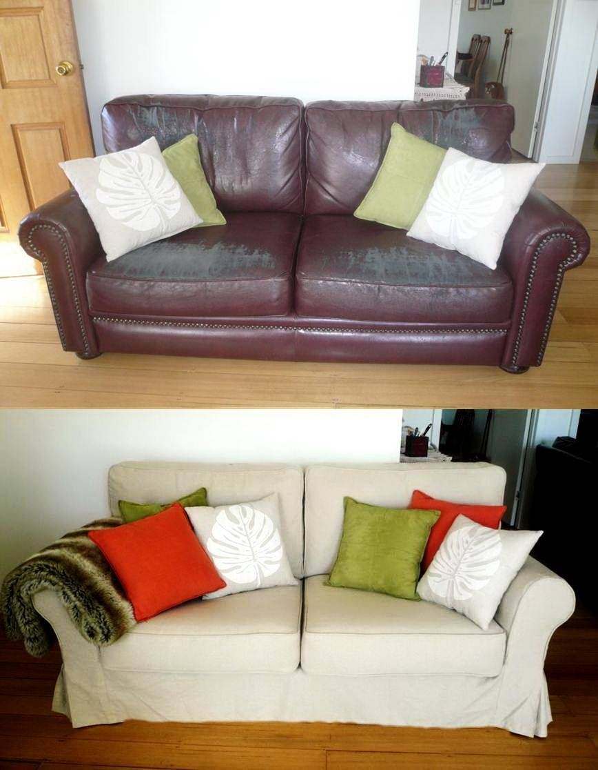 Custom Slipcovers And Couch Cover For Any Sofa Online pertaining to Slipcover For Leather Sofas (Image 5 of 30)