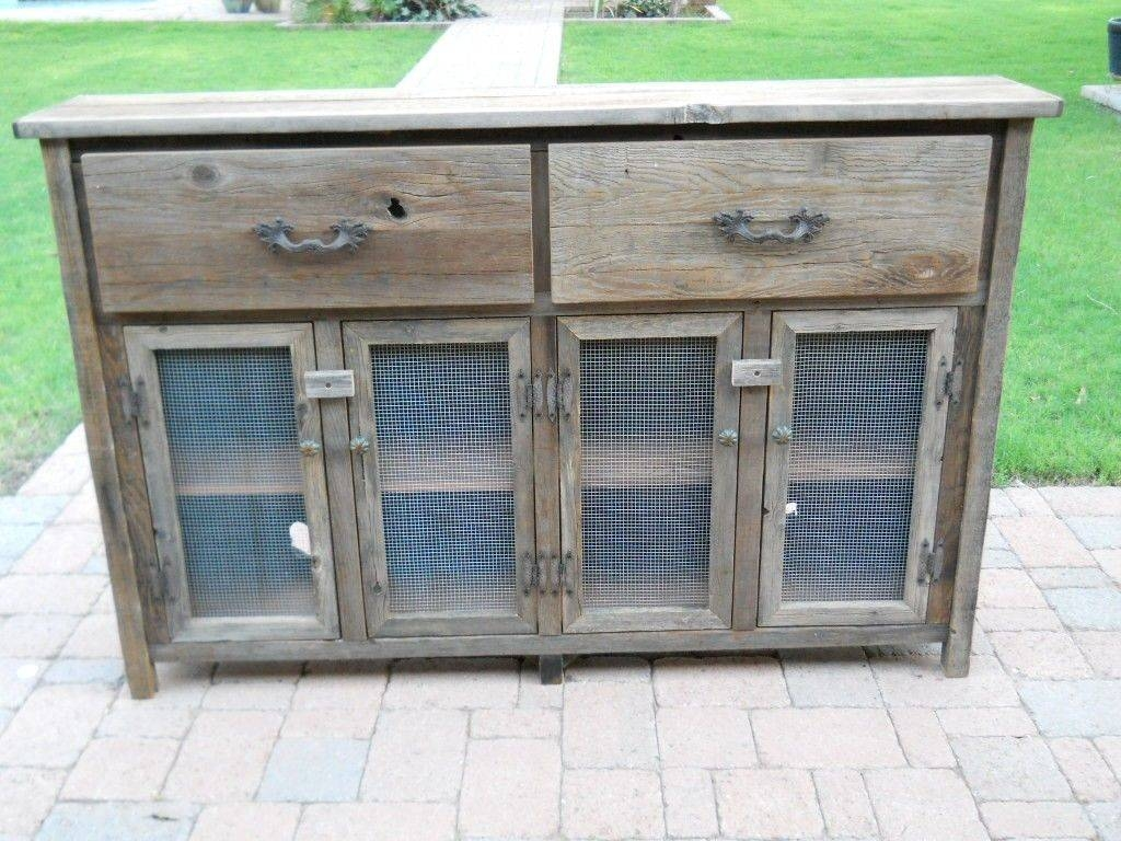 Custom Thin Barnwood Buffet Cabinettreehousewoodworks regarding Thin Sideboard Tables (Image 12 of 30)