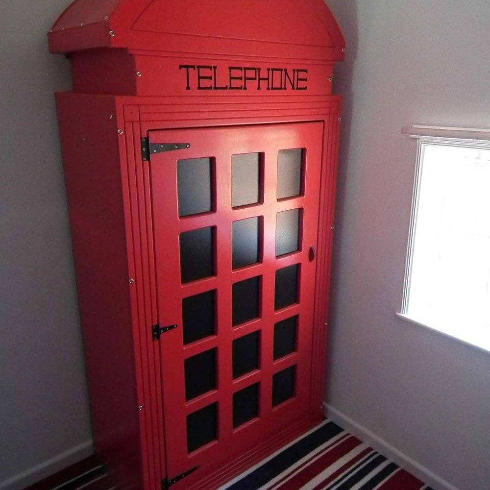Customer Testimonials • Children's Themed Bedsdreamcraft Furniture regarding Telephone Box Wardrobes (Image 3 of 15)