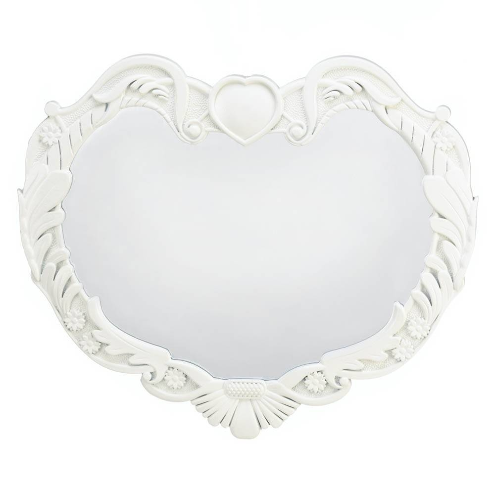 Cute Collectible Gifts – Angel Heart Wall Mirror For Heart Wall Mirrors (View 7 of 25)