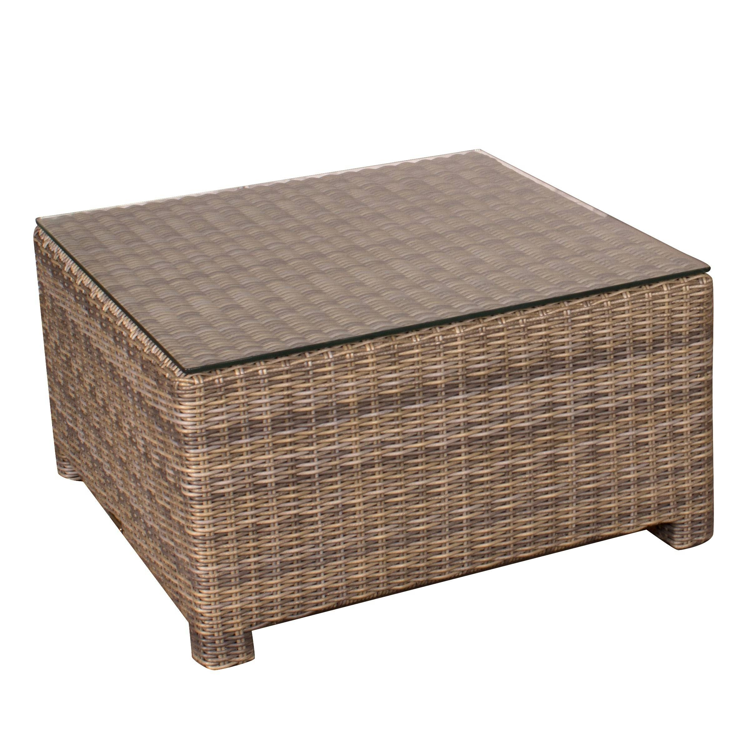 Cypress Wicker Square Coffee Table - Jericho Mafjar Project intended for Square Pine Coffee Tables (Image 11 of 30)
