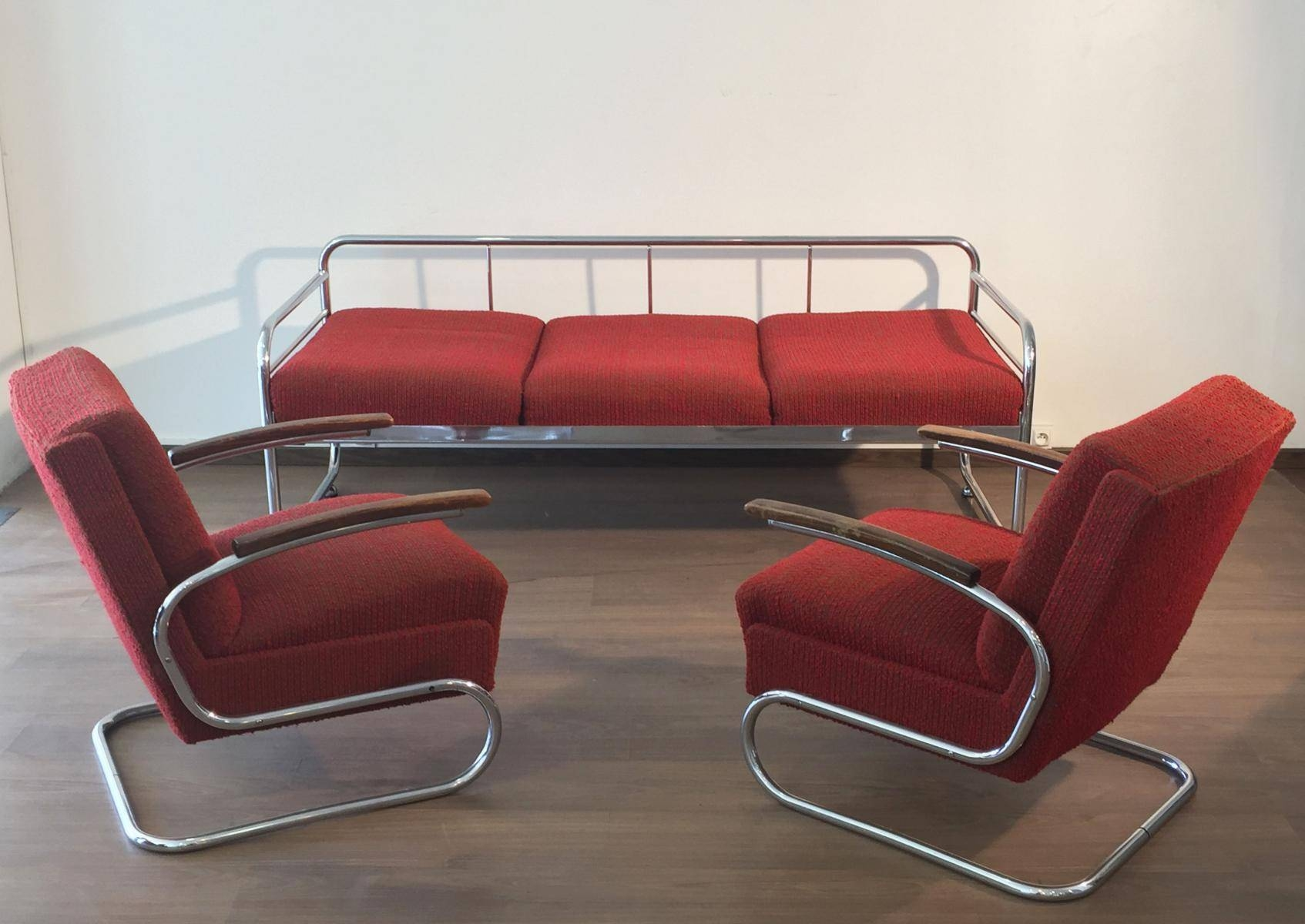 Czech Tubular Modernist Bauhaus Sofa From Slezak Zavody, 1930S For inside 1930S Couch (Image 12 of 30)