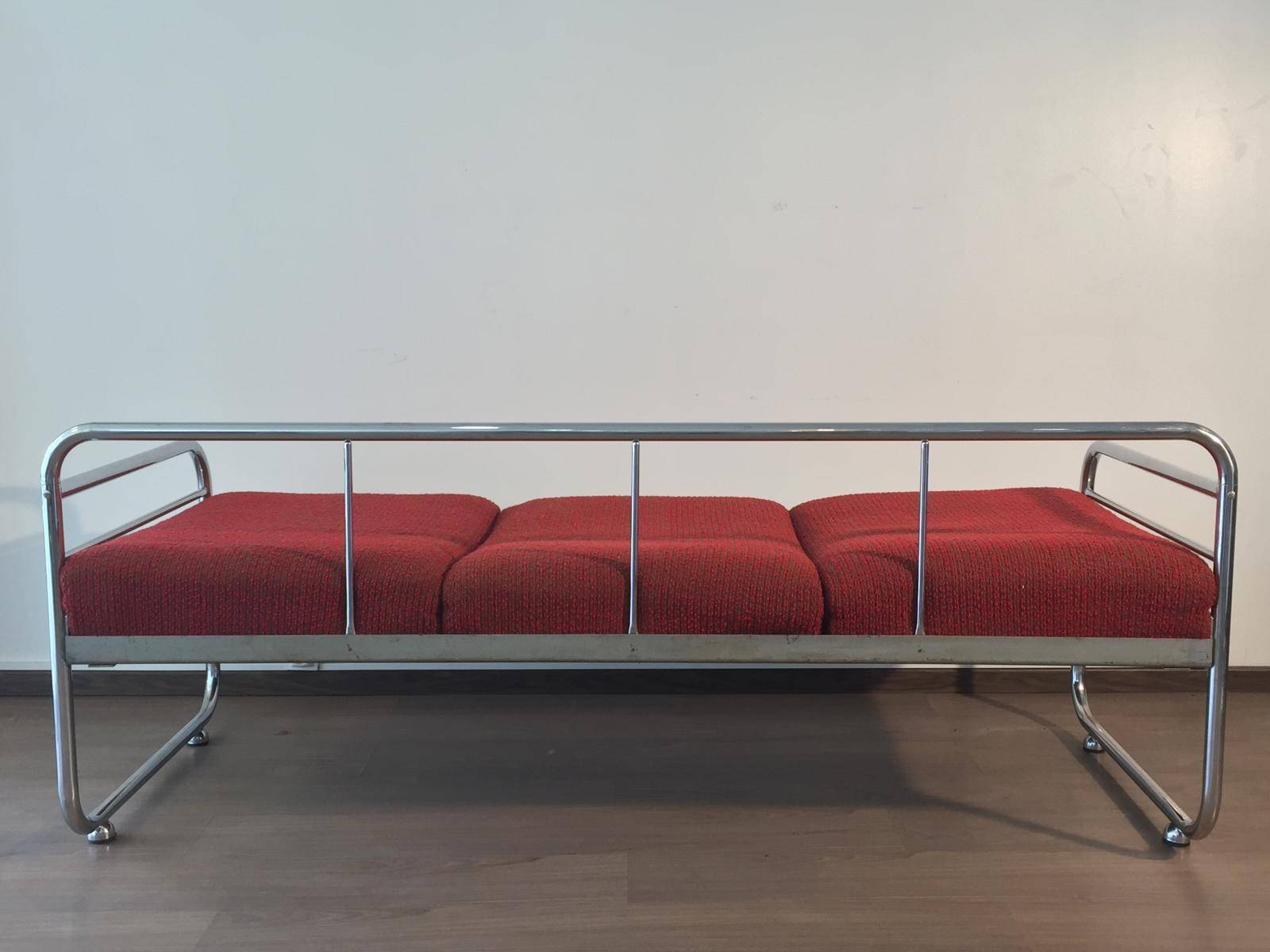 Czech Tubular Modernist Bauhaus Sofa From Slezak Zavody, 1930S For pertaining to 1930S Couch (Image 13 of 30)