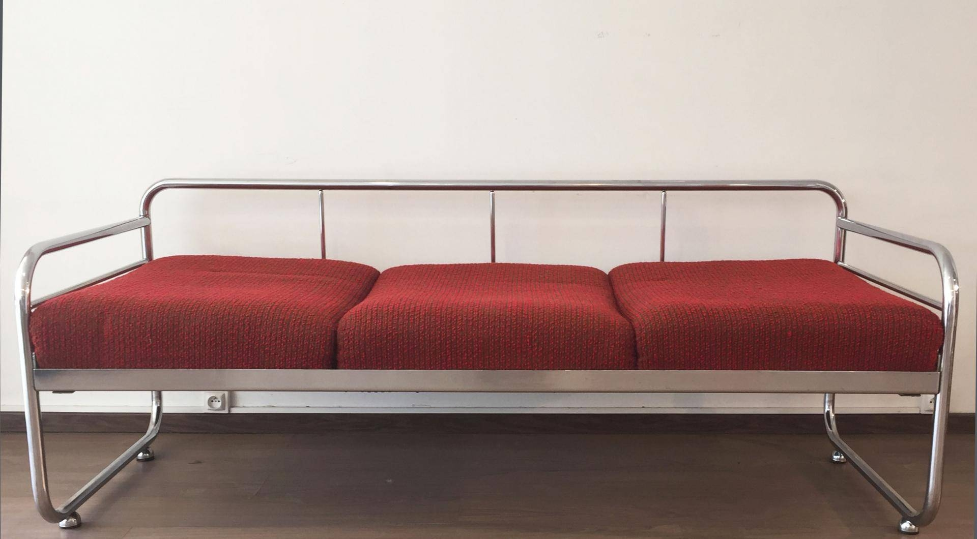 Czech Tubular Modernist Bauhaus Sofa From Slezak Zavody, 1930S For throughout 1930S Couch (Image 14 of 30)