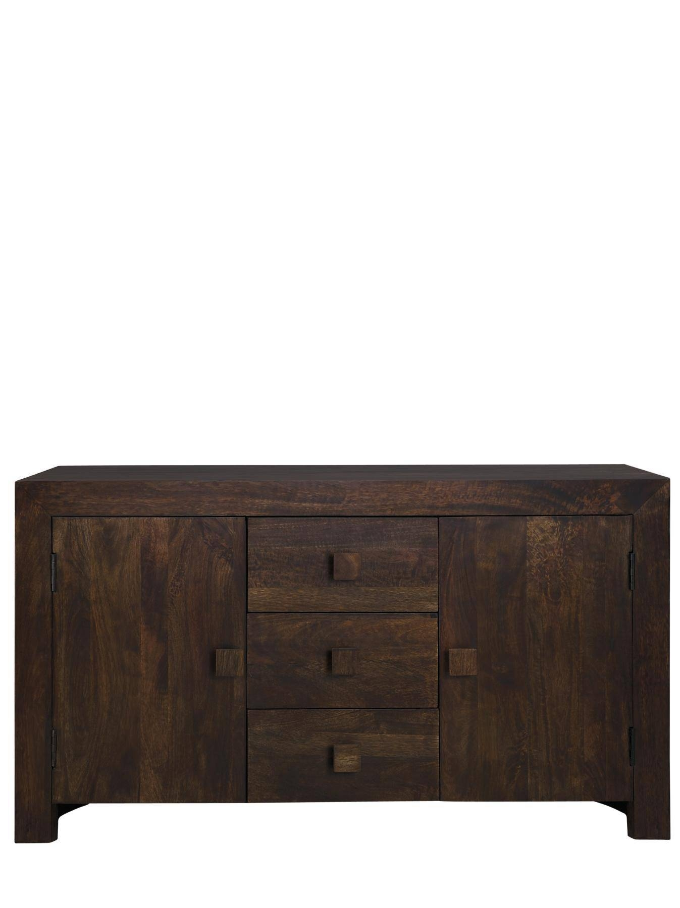 Dakota Ready Assembled Wide Sideboard, Light Mango,dark Brown for Ready Assembled Sideboards (Image 14 of 30)