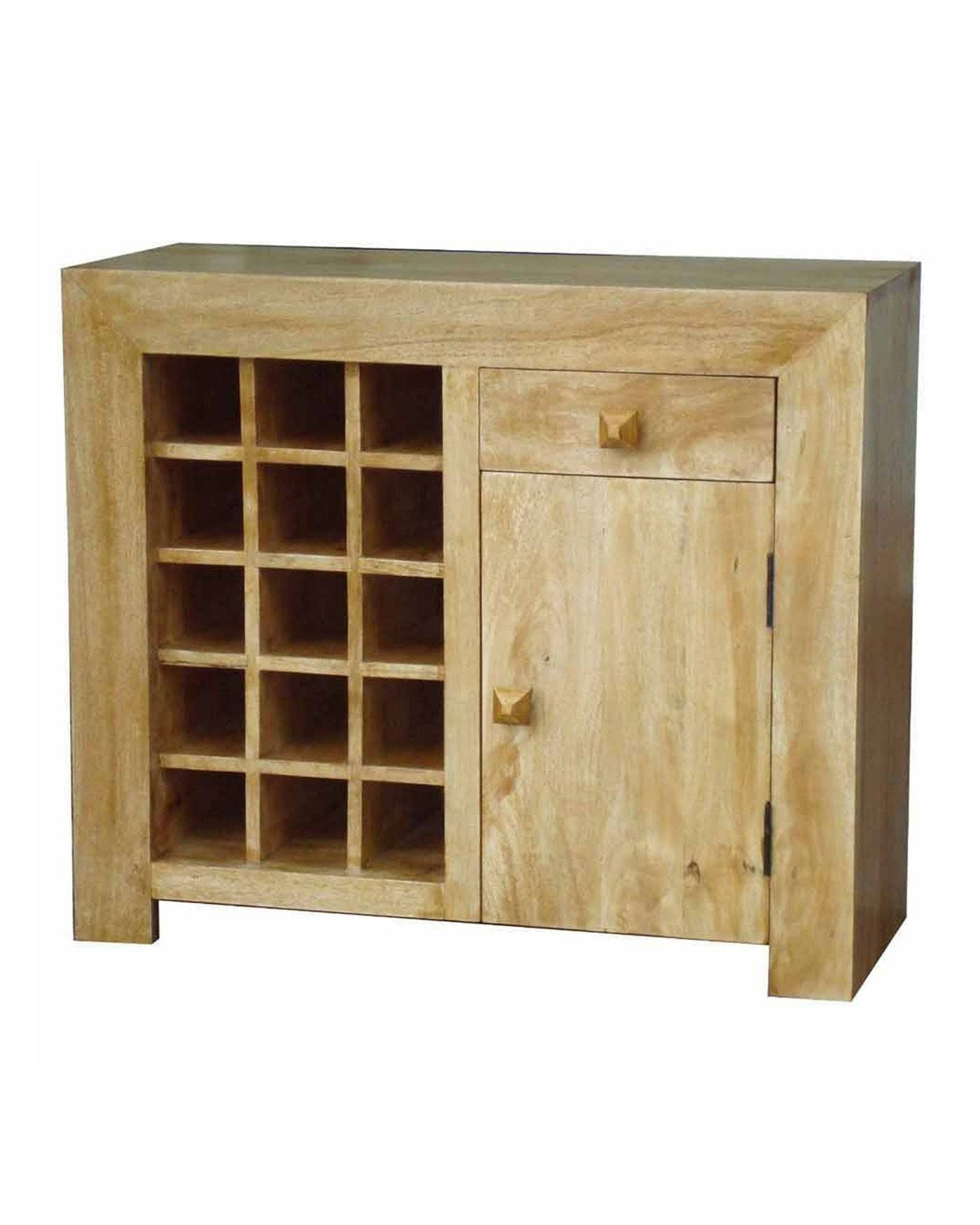 Dakota Sideboard With Wine Rack Oak Shade - Homescapes inside Oak Sideboards With Wine Rack (Image 6 of 30)