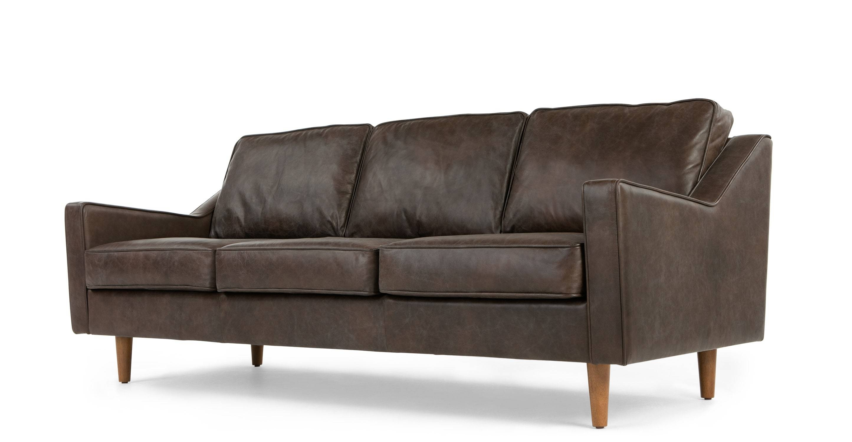 Dallas 3 Seater Sofa, Oxford Brown Premium Leather | Made throughout Oxford Sofas (Image 11 of 30)