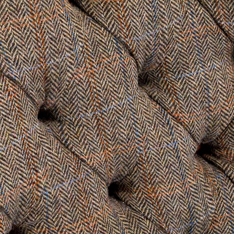 Dalmore Harris Tweed Midi Fabric Sofa - Lpc Furniture throughout Tweed Fabric Sofas (Image 8 of 30)