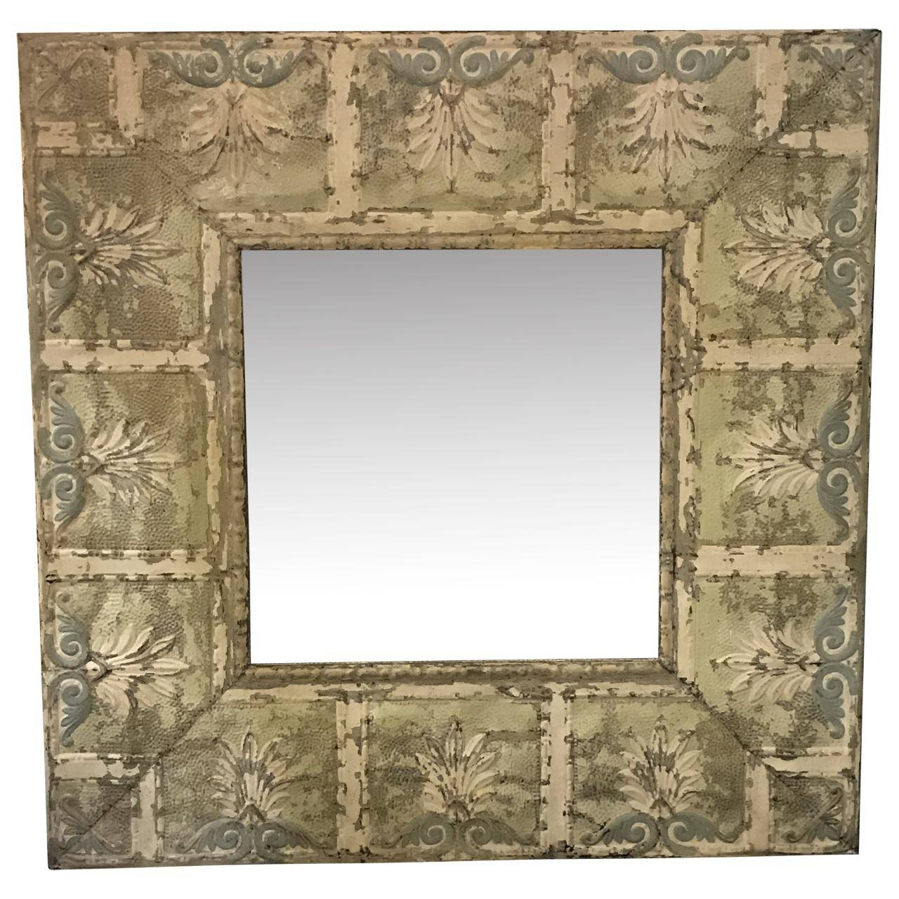 Dalton Bain - Kenny Ball Antiques - Pressed Tin Architectural inside Pressed Tin Mirrors (Image 5 of 25)