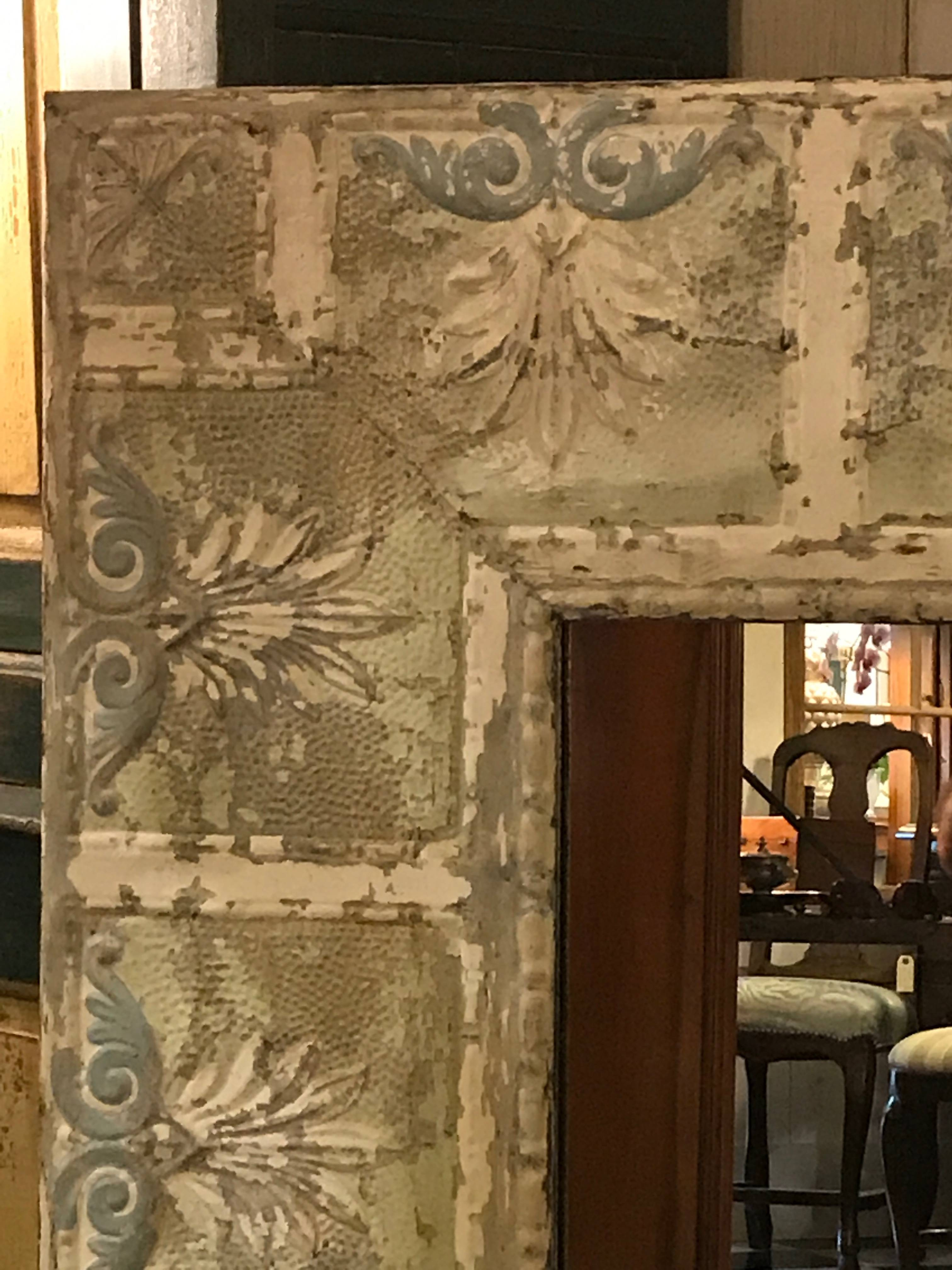 Dalton Bain - Kenny Ball Antiques - Pressed Tin Architectural intended for Pressed Tin Mirrors (Image 6 of 25)