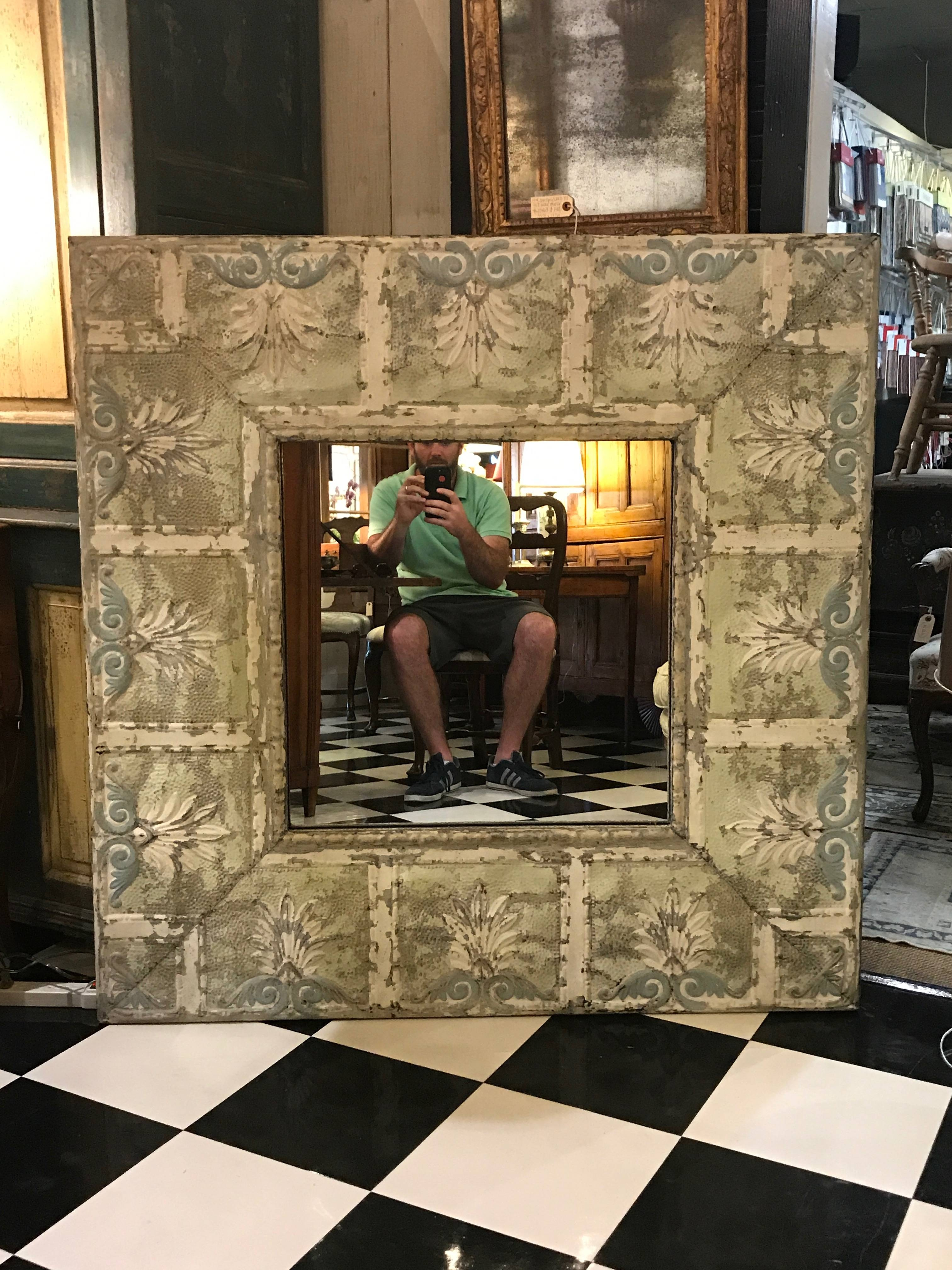 Dalton Bain - Kenny Ball Antiques - Pressed Tin Architectural with regard to Pressed Tin Mirrors (Image 8 of 25)
