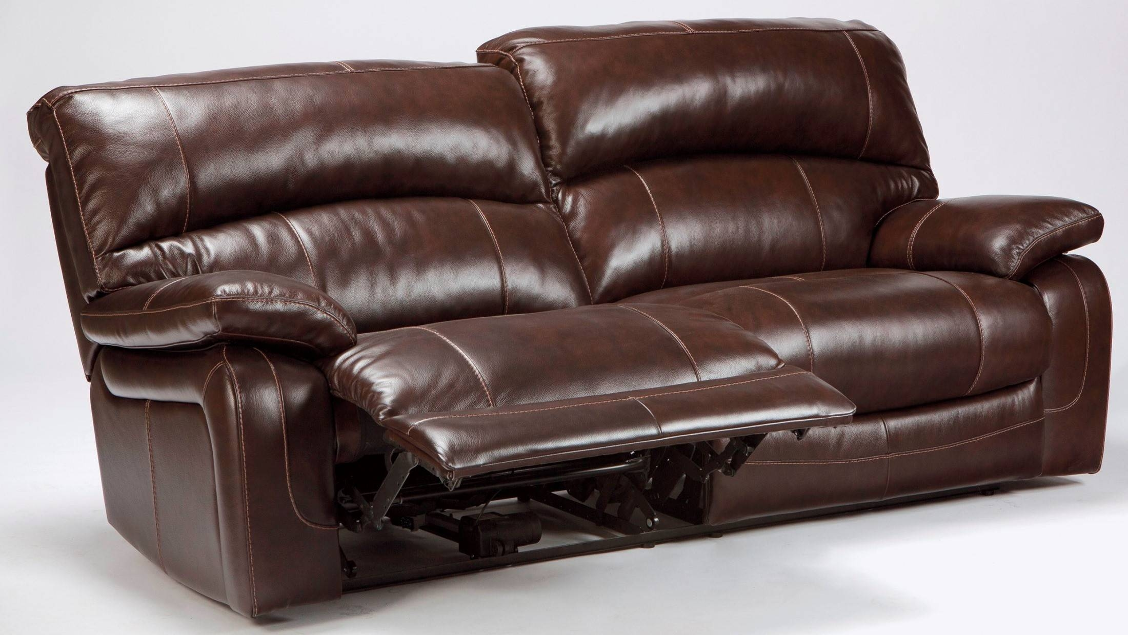 Damacio Dark Brown 2 Seat Power Reclining Sofa From Ashley in 2 Seat Recliner Sofas (Image 8 of 30)
