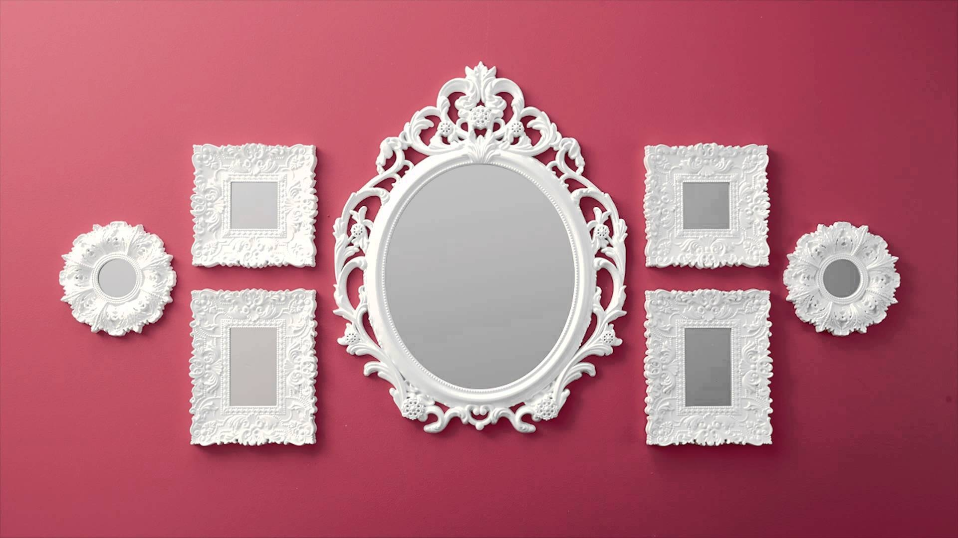 Dancing Mirrors From Better Homes And Gardens At Walmart! - Youtube regarding White Baroque Mirrors (Image 12 of 25)