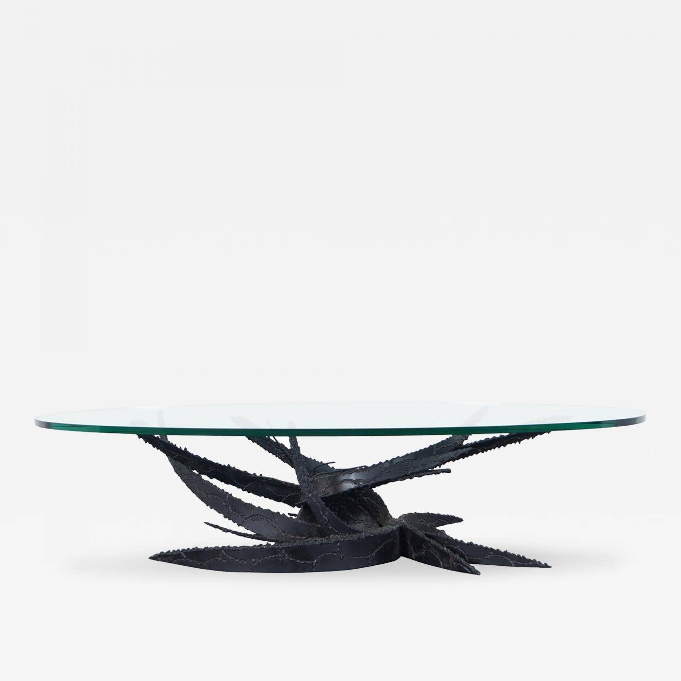 "Daniel Gluck - Vintage ""swirl"" Glass Coffee Tabledaniel Gluck inside Swirl Glass Coffee Tables (Image 8 of 30)"