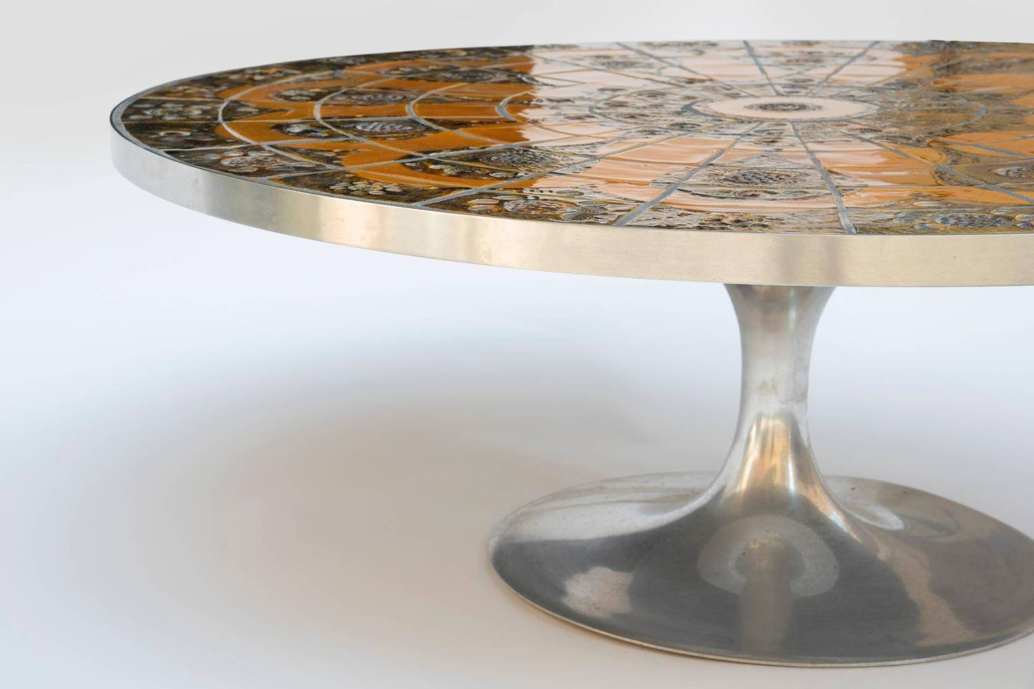 Danish Aluminium And Ceramic Coffee Tablepoul Cadovius, 1960S regarding Aluminium Coffee Tables (Image 13 of 30)