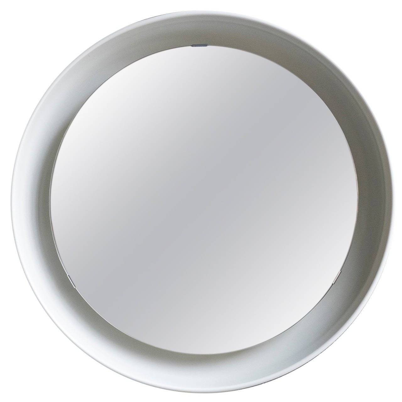 Danish Modern Illuminated Porthole Mirror At 1Stdibs pertaining to Chrome Porthole Mirrors (Image 11 of 25)
