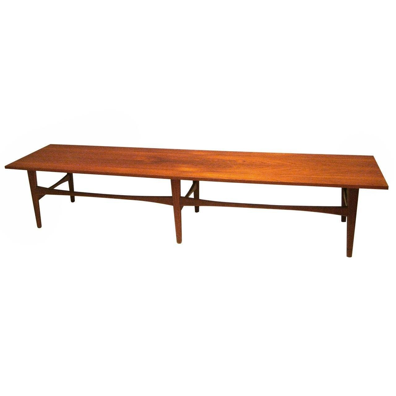 Danish Modern Long Coffee Table Or Bench In Teak At 1Stdibs Throughout Long Coffee Tables (View 6 of 15)