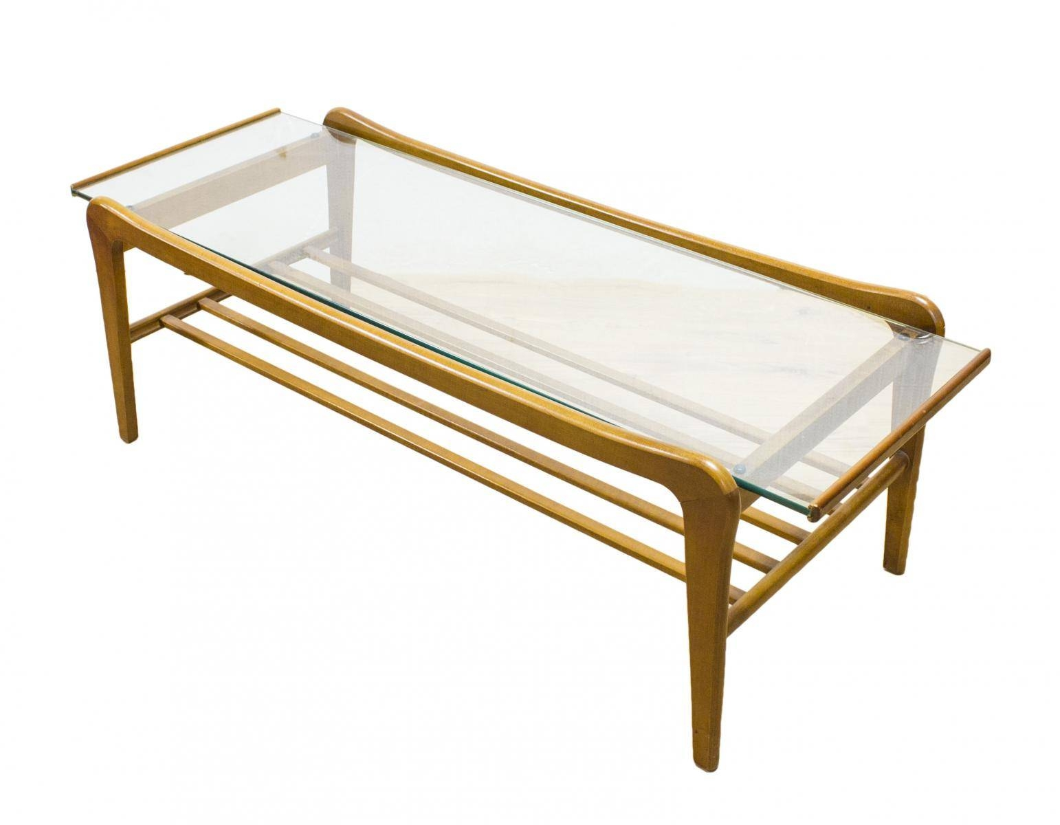 Danish Teak And Glass Coffee Table With Magazine Shelf For Sale At In Retro Teak Glass Coffee Tables (View 21 of 30)