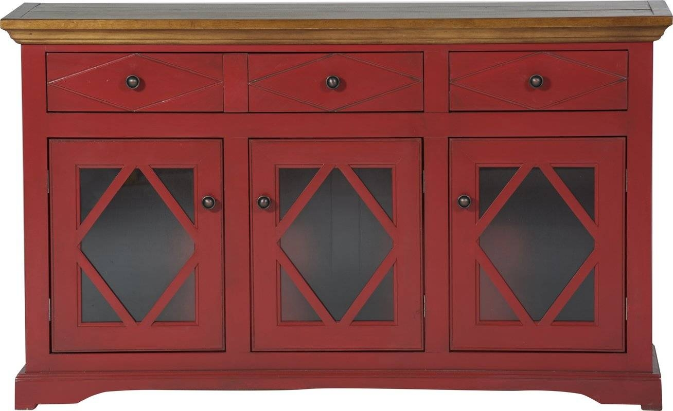 Darby Home Co Blackwater Sideboard & Reviews | Wayfair throughout Red Sideboards (Image 9 of 30)