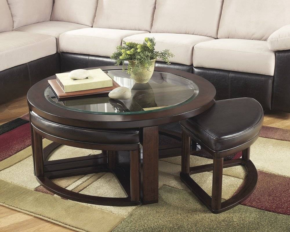 Popular Photo of Coffee Table With Stools