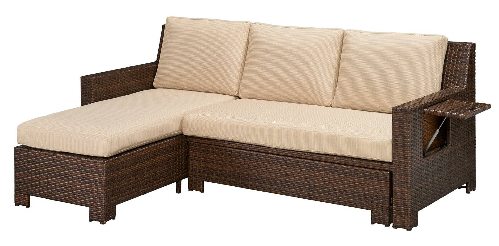 Darby Home Co Ferndale Deck Convertible Sectional Sofa With with Convertible Sectional Sofas (Image 5 of 30)