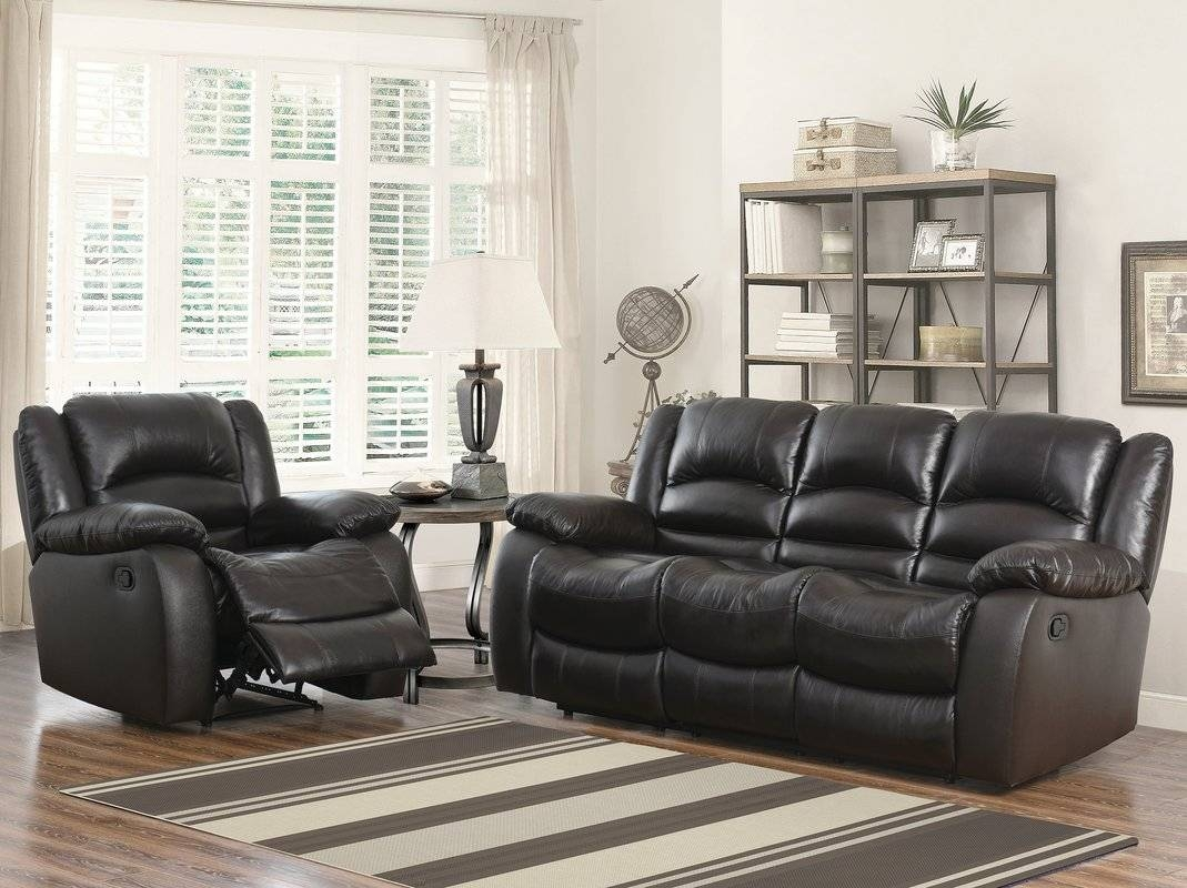 Darby Home Co Jorgensen Reclining Sofa And Chair Set & Reviews with Sofa and Chair Set (Image 16 of 30)