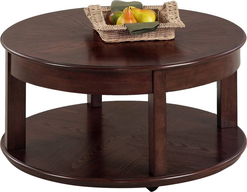 Darby Home Co Wilhoite Castered Round Coffee Table & Reviews | Wayfair throughout Round Red Coffee Tables (Image 6 of 30)