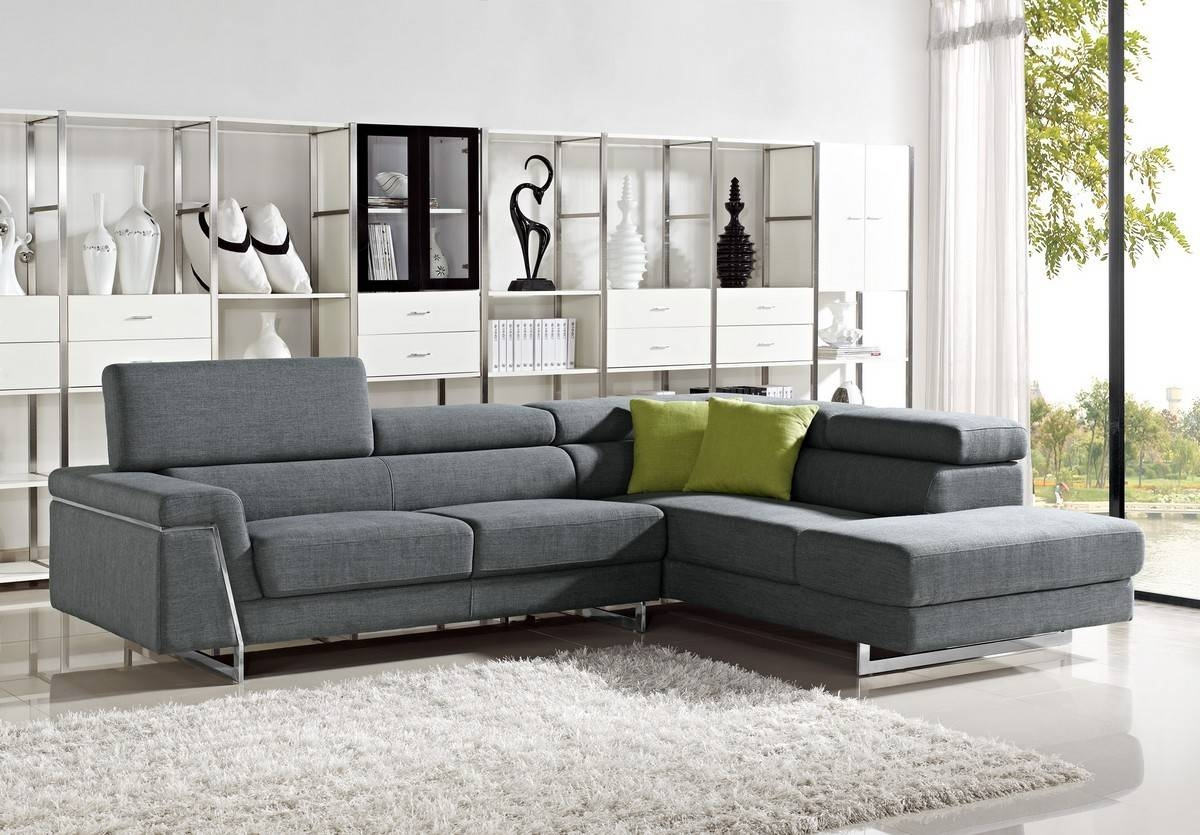 Darby - Modern Fabric Sectional Sofa Set within Cloth Sectional Sofas (Image 4 of 30)