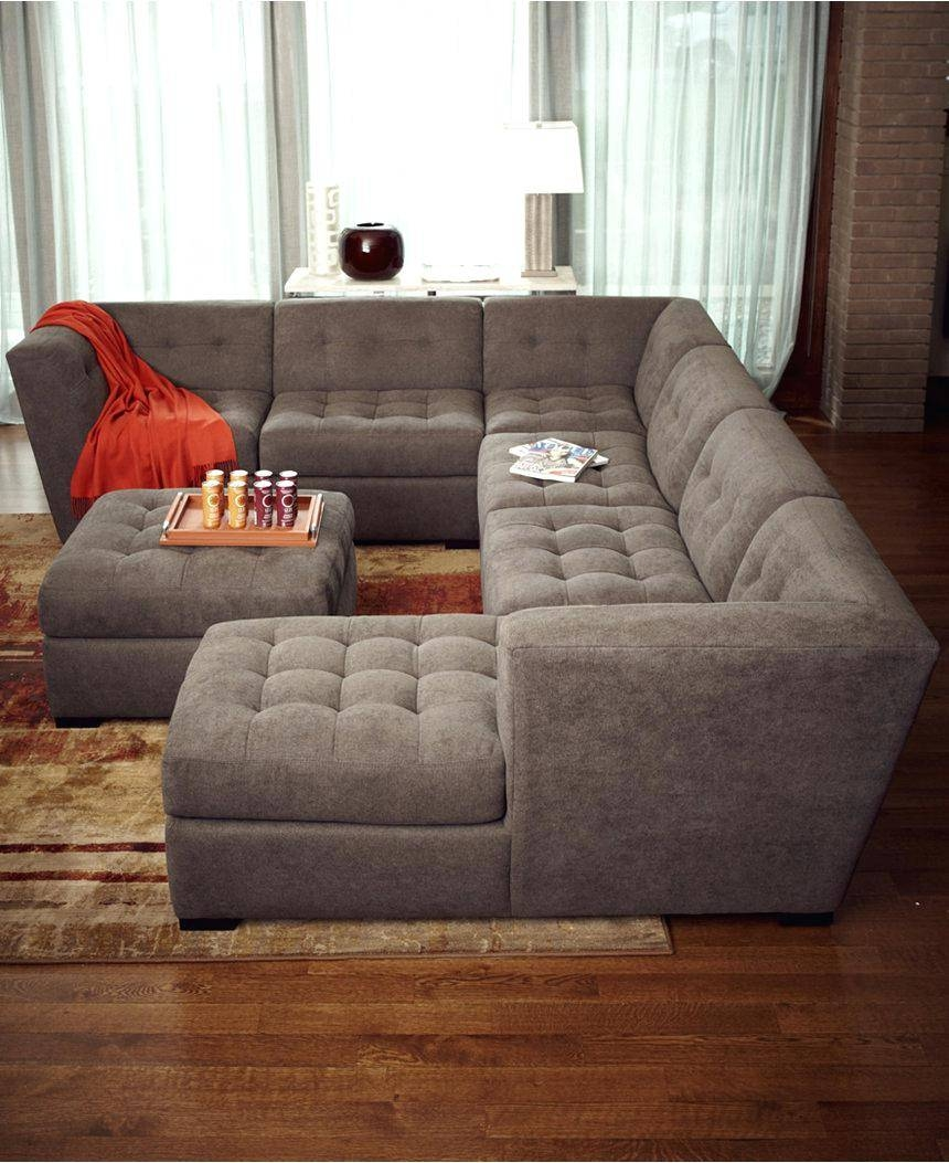 Dark Blue Sectional Canby Modular Sofa Set Costco Fabric Reclining inside 6 Piece Leather Sectional Sofa (Image 14 of 30)