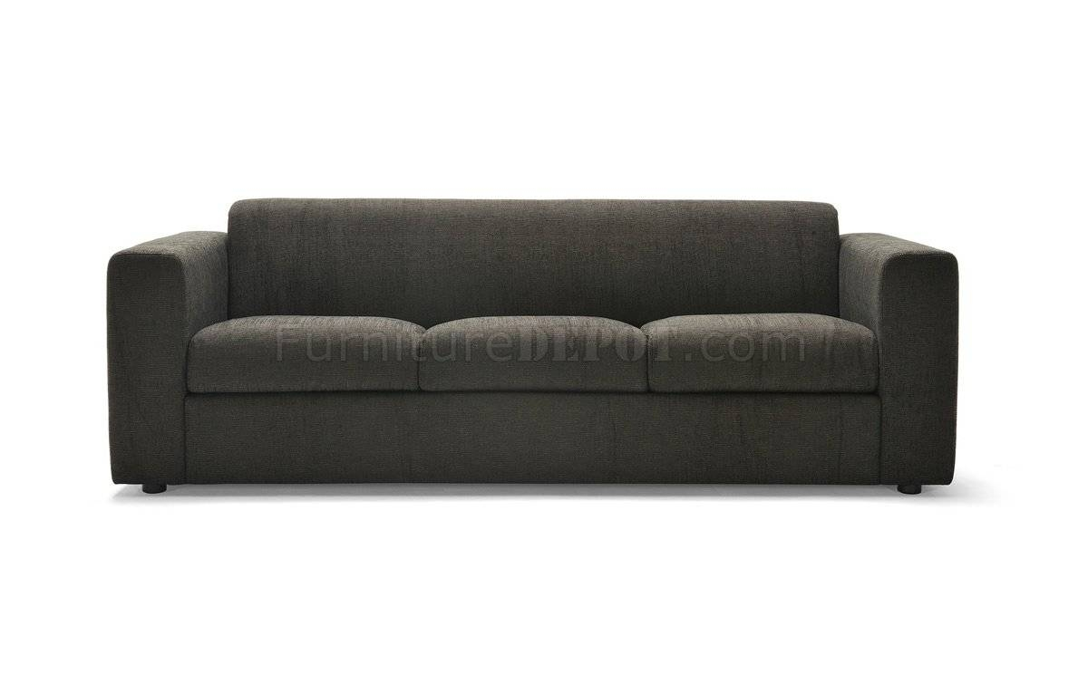 Dark Brown Fabric Contemporary Sofa & Armchair Set in Contemporary Fabric Sofas (Image 10 of 30)