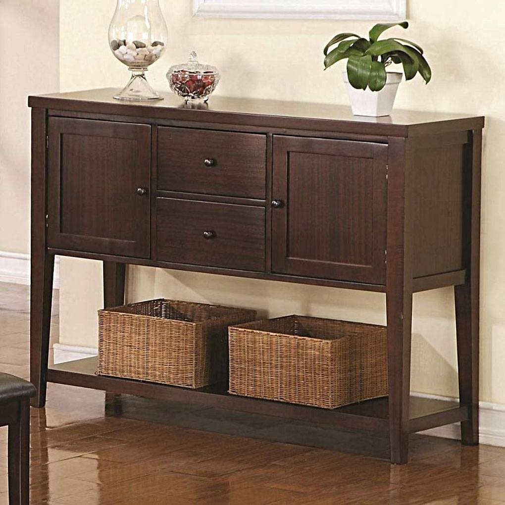 Dark Brown (Java) Dining Sideboards, Servers, Credenzas, Buffets pertaining to Dark Brown Sideboards (Image 8 of 30)