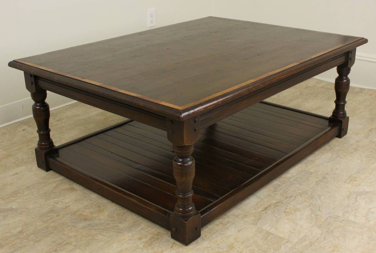 Dark Oak English Potboard Coffee Table For Sale At 1Stdibs throughout Dark Oak Coffee Tables (Image 8 of 15)