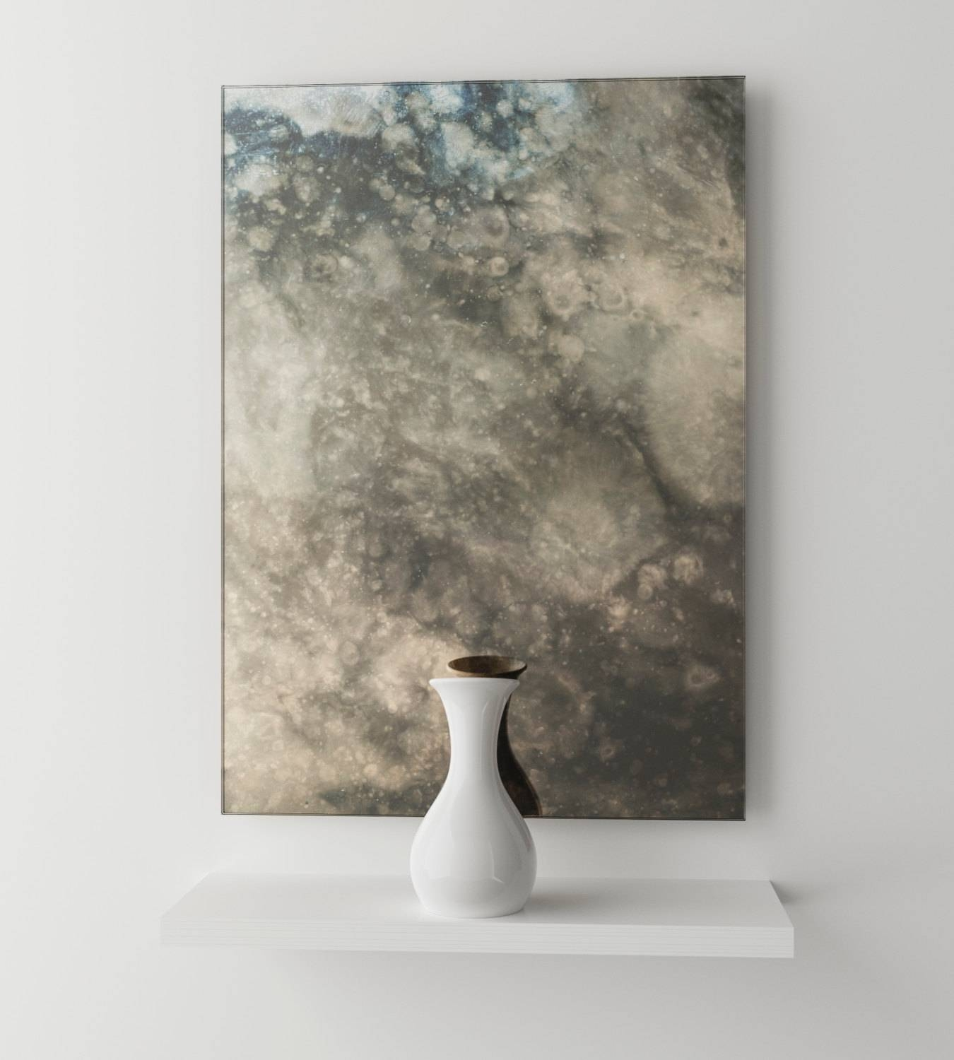 Dark Smoked Antiqued Mirror. Interesting Cloudy Antiqued throughout Antiqued Mirrors (Image 15 of 25)