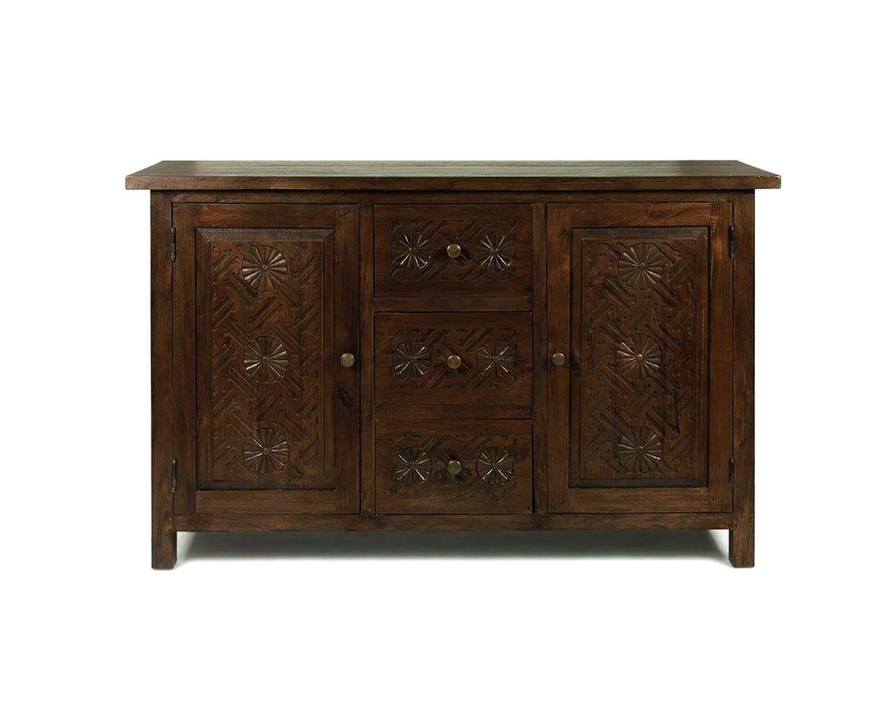 Dark Wood Buffet Sideboard Home Maharani Dark Wood Sideboard 2 regarding Dark Sideboards (Image 6 of 30)